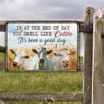 Charolais Cattle Lovers Good Day Metal Sign