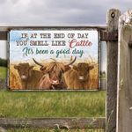 Highland Cattle Lovers Good Day Metal Sign