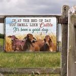 Red Brahman Cattle Lovers Good Day Metal Sign