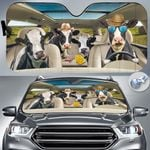 """Holstein Friesian Cattle Lovers Country Road Car Auto Sunshade 57"""" x 27.5"""""""