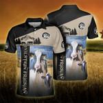 Holstein Friesian Cattle Lovers Proud Farmer Polo Shirt