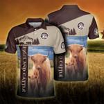 Highland Cattle Lovers Proud Farmer Polo Shirt