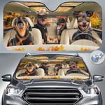 """Miniature Pinscher Dog Lovers Autumn Road Car Auto Sunshade 57"""" x 27.5"""""""