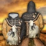 Brahman Cattle Lovers A Good Day All Over Print Shirts