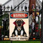 English Mastiff Dog Lovers Beware Of Vampires Metal Sign