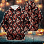 Skeleton Pattern All Over Print Shirts