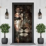 A Heaven Within Jesus And Lion Door Cover