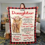 Mom To Daughter Highland Cattle Lovers Premium Blankets