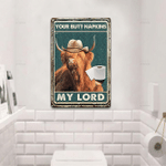Highland Cattle Lovers My Lord Metal Sign