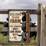 Black Angus Cattle Lovers Welcome To Our Farm Metal Sign