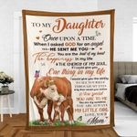 Mom To Daughter Hereford Cattle Lovers Premium Blankets