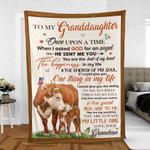 Grandma To Granddaughter Hereford Cattle Lovers Premium Blankets