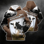 Holstein Friesian Cattle Lovers All Over Print Shirts