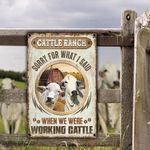 Brahman Cattle Lovers Sorry For What I Said Metal Sign