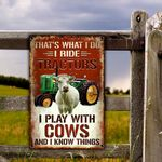 Charolais Cattle Lovers That's What I Do Metal Sign
