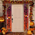 """Highland Cattle Lovers Trick Or Treat Drink Up Witches Porch Banner 12"""" x 70"""""""