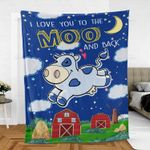 I Love You To The Moo And Back Premium Blankets