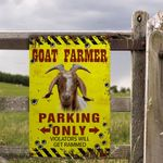 Goat Lovers Parking Only Metal Sign