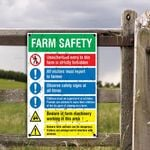 Farm Lovers Gift Farm Safety Metal Sign