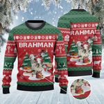 Brahman Cattle Lovers Christmas Tree Knitted Sweater
