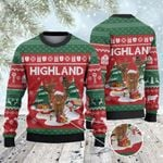 Highland Cattle Lovers Christmas Tree Knitted Sweater