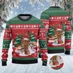 Highland Cattle Lovers Christmas Gift Knitted Sweater