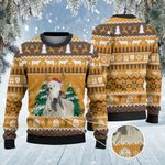 Brahman Cattle Lovers Christmas On The Farm Knitted Sweater