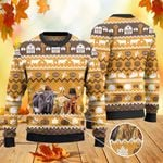 Highland Cattle Lovers Thanksgiving Gift Knitted Sweater