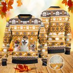 Shiba Inu Dog Lovers Thanksgiving Gift Knitted Sweater