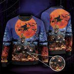 Rottweiler Dog Lovers Halloween Moon Knitted Sweater