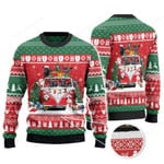Black Angus Cattle Lovers Christmas Van Knitted Sweater