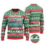 Pontoon Queen Merry Christmas Knitted Sweater