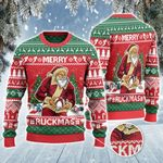 Rugby Lovers Gift Merry Ruckmas Knitted Sweater