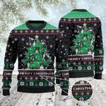 Border Collie Dog Lovers Christmas Tree All Over Print Sweater