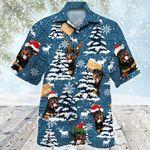 Rottweiler Dog Lovers Blue Tribal Christmas Gift Hawaiian Shirt