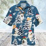 Great Pyrenees Dog Lovers Blue Tribal Christmas Gift Hawaiian Shirt