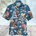 Weimaraner Dog Lovers Blue Tribal Christmas Gift Hawaiian Shirt