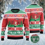 Santa Playing Billiard Christmas Gift All Over Print Sweater