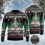 Santa's Favorite Accountant Christmas Gift All Over Print Sweater