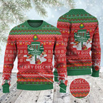 Disc Golf Lovers Merry Discmas Christmas Gift All Over Print Sweater