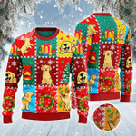 Golden Retriever Dog Lovers Christmas Wishes All Over Print Sweater