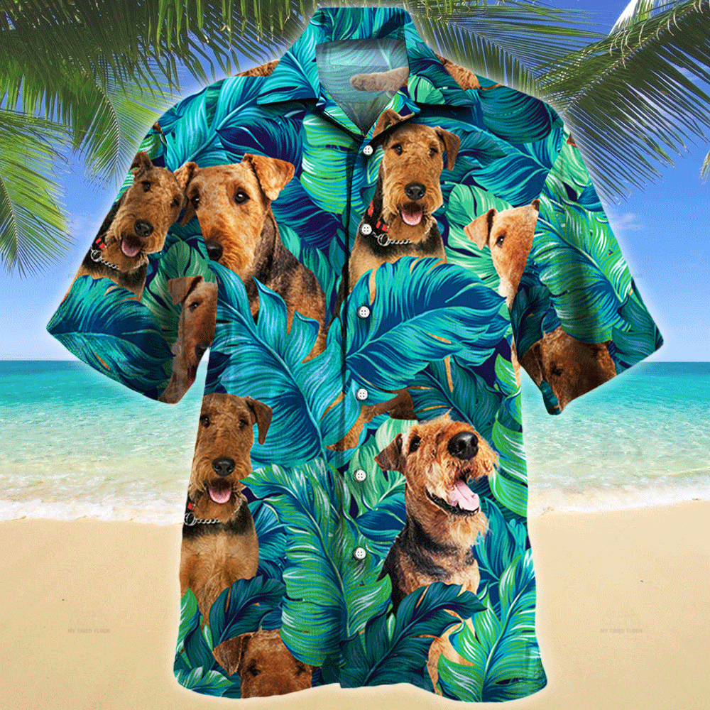 Airedale Terrier Dog Lovers Gift Hawaii Shirt