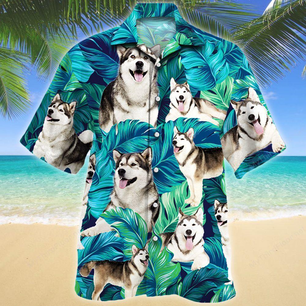 Alaskan Malamute Dog Lovers Hawaii Shirt