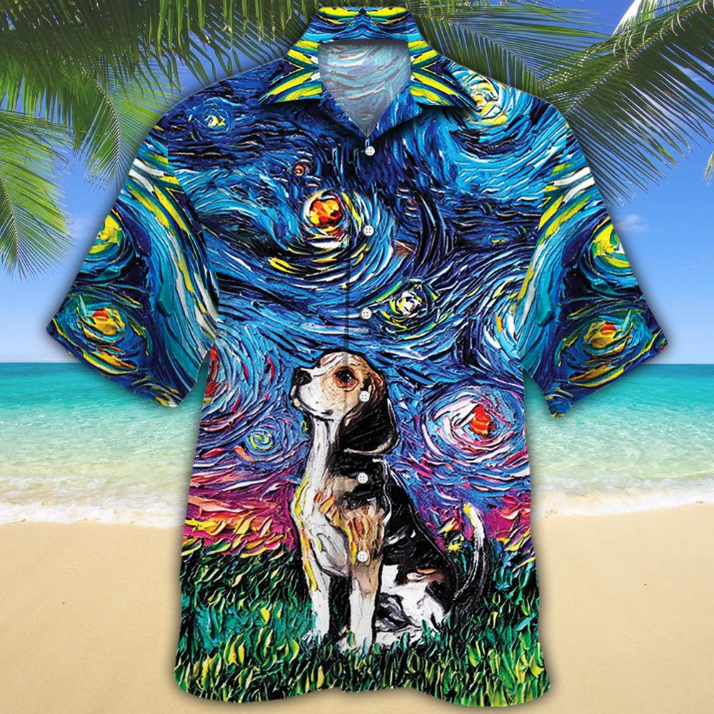 Beagle Dog Lovers Night Hawaiian Shirt