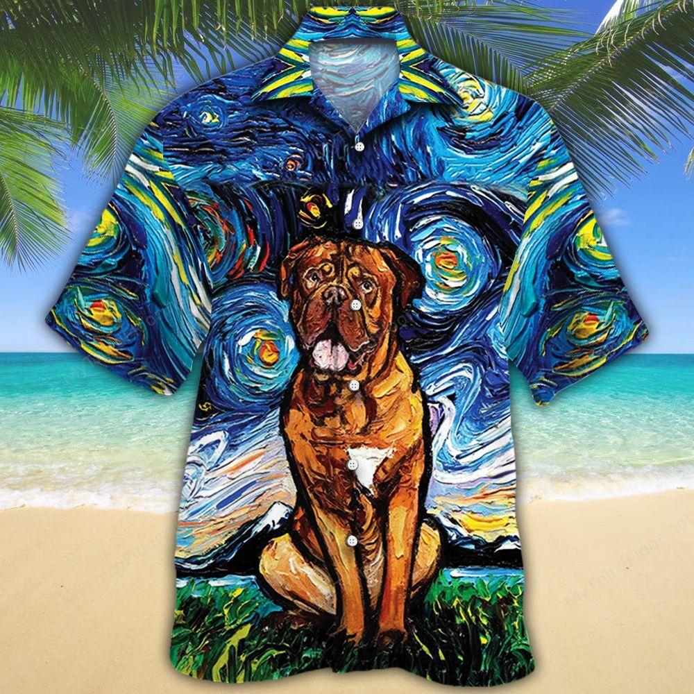 Dogue de Bordeaux Dog Lovers Night Hawaiian Shirt