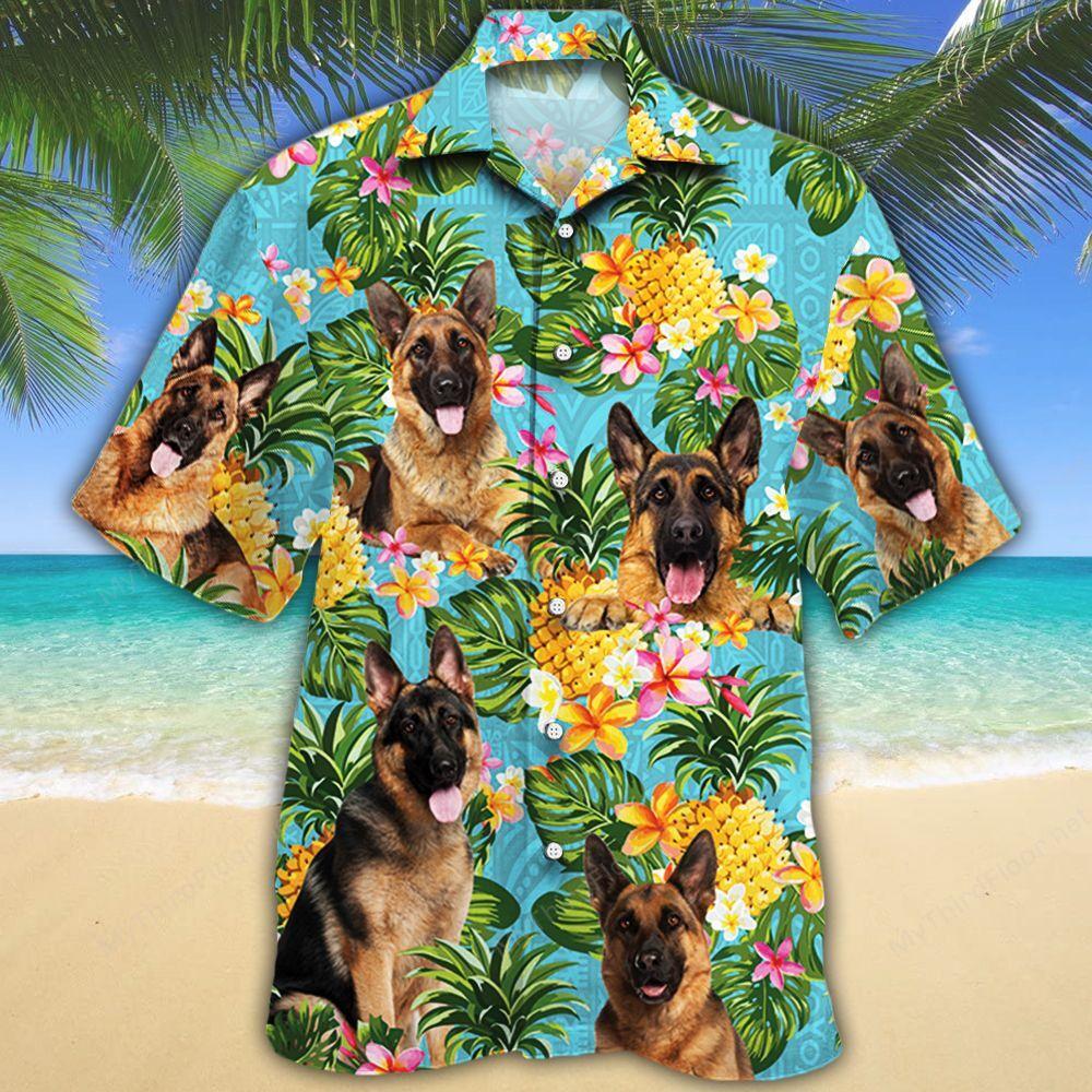German Shepherd Dog Lovers Pineapple Hawaiian Shirt