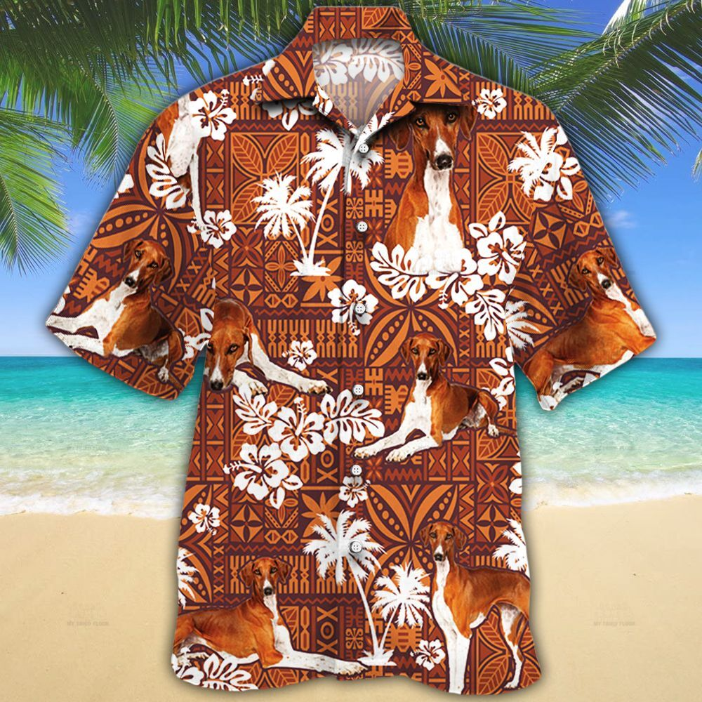 Azawakh Dog Lovers Red Tribal Hawaiian Shirt