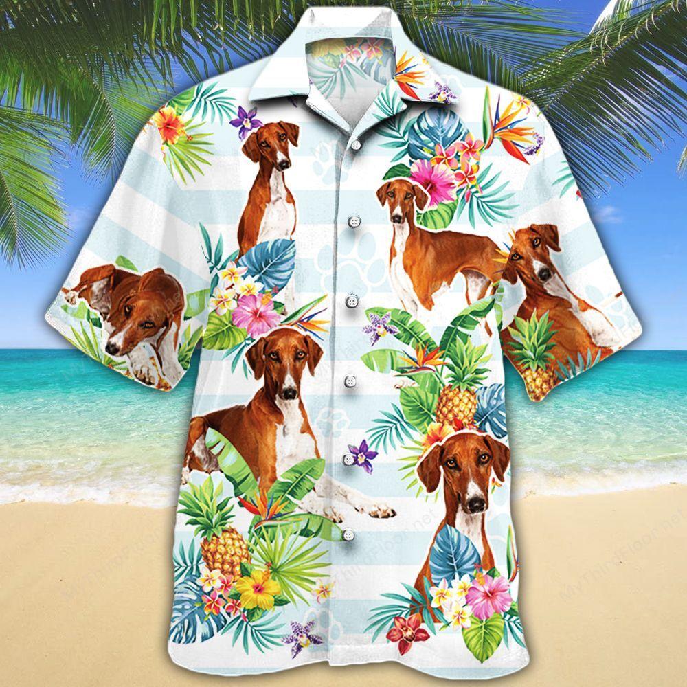 Azawakh Dog Lovers Tropical Flower Hawaiian Shirt