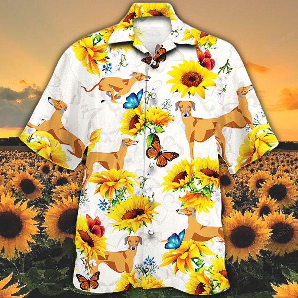 Azawakh Dog Lovers Sun Flower Hawaiian Shirt