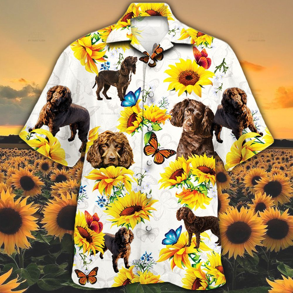 Boykin Spaniel Dog Lovers Sun Flower Hawaiian Shirt